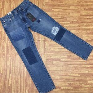 Levi's 511 Slim Stretch Patchwork Jeans 33x32